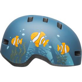 Bell Lil Ripper Helmet matte gray/blue fish